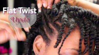 getlinkyoutube.com-Natural Hair Protective Styling Flat Twist Updo|BEAUTYCUTRIGHT