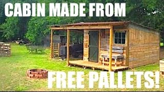 getlinkyoutube.com-This Tiny House/Cabin was made from FREE Pallets!