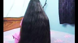 getlinkyoutube.com-indianrapunzels.com - silky thick knee length long hair video - Model T - part1