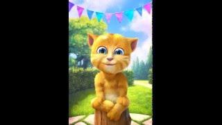getlinkyoutube.com-Ginger Cat Sings Wheels on the Bus Children's Nursery Rhymes Baby Songs