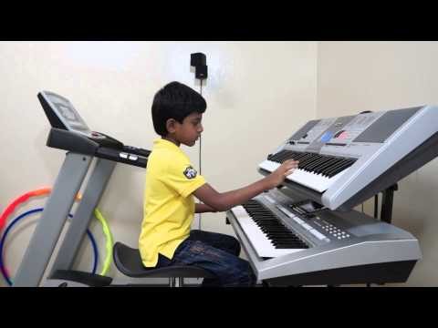 HARIVARASANAM -Ragam Madhyamavathi (KJ YESUDAS-SWAMI AYYAPPAN) on Keyboard by Vishwaraj Vinayakumar