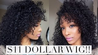 getlinkyoutube.com-Curly Hair | $11 Dollar Wig! | FabulousBre