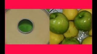 طريقة عمل كيكة التفاح  : عبير
