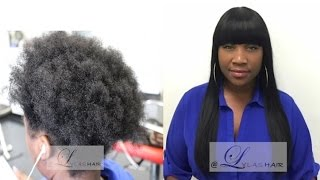 getlinkyoutube.com-How to Bang Cut Sew-In Enclosure Hair Extensions/Weave