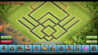 getlinkyoutube.com-Clash of Clans: Best Troll Base HDV10/TH10 #1 + Gameplays