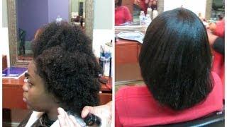 getlinkyoutube.com-Straightening 4C Natural Hair: Light Press!