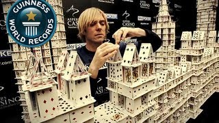 getlinkyoutube.com-Largest Card Stacking Structure - Record Holder Profile - Bryan Berg Pt.2 - Guinness World Records