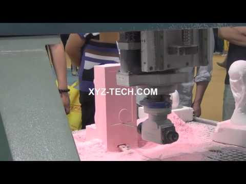 4 axis CNC Router XYZ 1325 (XYZ-CAM,P4-1,C axis )--3D mould Muses