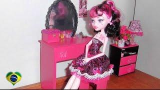 getlinkyoutube.com-Como fazer penteadeira #2 para boneca Monster High, Barbie, Pullip e etc
