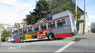 "getlinkyoutube.com-San Francisco Trolleybus - route ""24 Divisadero"" (Noe St/26th St)"