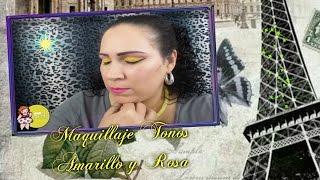 getlinkyoutube.com-Maquillaje en Tonos Amarillo y Rosa/Peticion /Sorteo Internacional