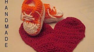 getlinkyoutube.com-كروشيه طريقة عمل حذاء لأي مقاس خطوة بخطوة Crochet sneakers