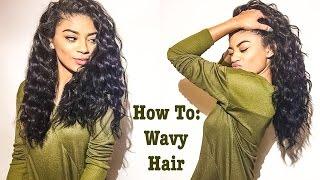 getlinkyoutube.com-How To: Get Wavy Hair on Straightened Natural Hair | jasmeannnn