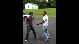 My dad can beat up your dad! Look see!