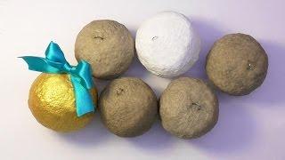 getlinkyoutube.com-DIY Как сделать основу для ёлочных шаров папье маше . Мастер класс. Basis for Christmas-tree balls