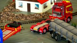 getlinkyoutube.com-6 AXLE SCANIA SCHWERTRANSPORTER für WINDENERGIE RÜTI