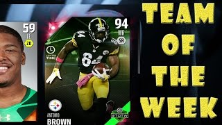 getlinkyoutube.com-Limited Edition Antonio Brown PULL and Team Of The Week Pulls - Pack Opening - Madden NFL 16 - MUT