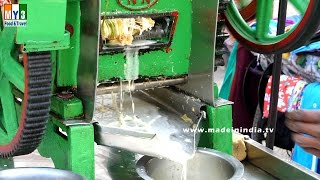 SUGARCANE JUICE | Ganne Ka Ras | Sugarcane juice extracting