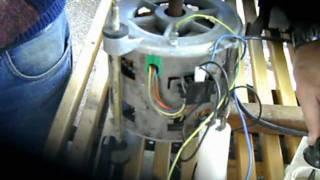 getlinkyoutube.com-Cómo conectar el motor de una  lavadora,conexión directa sin programador .