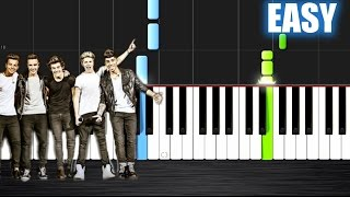 getlinkyoutube.com-One Direction - What Makes You Beautiful - EASY Piano Tutorial by PlutaX - Synthesia