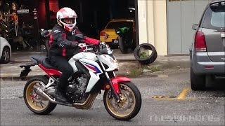Honda CB650F Yoshimura R-55 VS Scorpion RP-1 GP exhaust