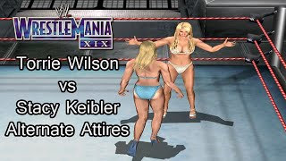 WrestleMania XIX - Torrie Wilson vs Stacy Keibler (Alternate Attires)