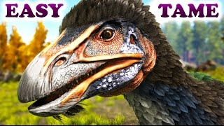 ARK HOW TO TAME A THERIZINOSAURUS The Fluffy Evil Gatherer