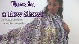getlinkyoutube.com-Fans in a Row Lacy Shawl - Crochet Tutorial