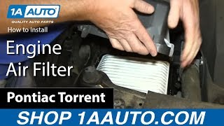 getlinkyoutube.com-How To Install Replace Engine Air Filter 3.6L Chevy Equinox Pontiac Torrent