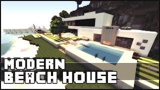 getlinkyoutube.com-Minecraft - Modern Beach House & Yacht