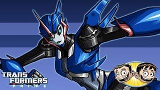 getlinkyoutube.com-Transformers Prime: The Game - Arcee Scratches Deep - BroBrahs