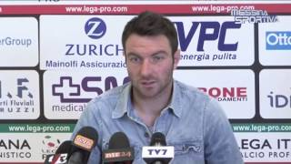 Il difensore del Benevento Lucioni fa il punto dopo il cambio in panchina