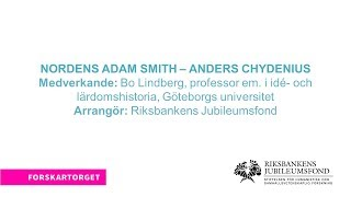 Forskartorget 2017 - Nordens Adam Smith – Anders Chydenius