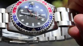 getlinkyoutube.com-Steinhart Ocean GMT Pepsi Bezel watch review