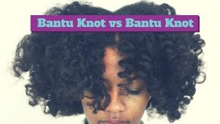 Bantu Knot-Out vs Twisted Bantu Knot-Out