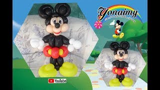 getlinkyoutube.com-COMO HACER A MICKEY MOUSE (EN UN SOLO TUTORIAL). HOW TO MAKE A MICKEY MOUSE BALLOON.