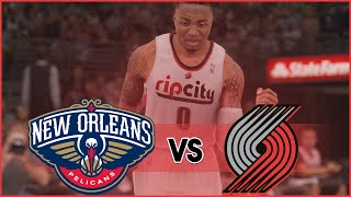 getlinkyoutube.com-NBA 2K16 Portland Trail Blazers MyLeague- Lillard Starting Strong vs New Orleans Pelicans