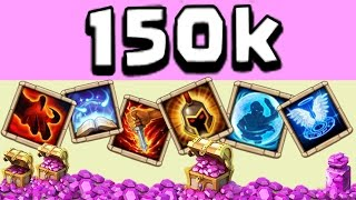 getlinkyoutube.com-Schloss Konflikt/ castle clash 150k gem roll