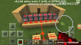 getlinkyoutube.com-Minecraft PE 0.14.0 Arrow machine gun trap