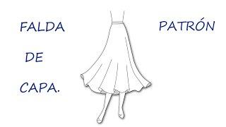Como hacer un patrón de falda capa. Patrón falda plato.