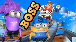 getlinkyoutube.com-Minion Rush BOSS : Despicable Me 2: Minion Rush VILLAINTRILOQUIST BOSS Fight Evil Minion