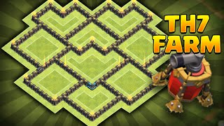 Clash of Clans - NEW Update BEST TH7 Farming BASE!! CoC Best Town hall 7 Farming BASE!! *INSANE!!*