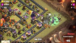 getlinkyoutube.com-[3 star TH10] [Hocus Pocus] mass witches attack on an almost max TH10 war base (ringus defenses).