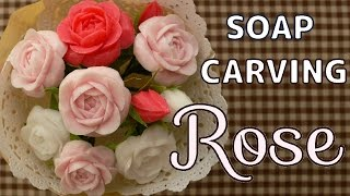 getlinkyoutube.com-SOAP CARVING  Full Bloom Rose   Tutorial   figure carving  