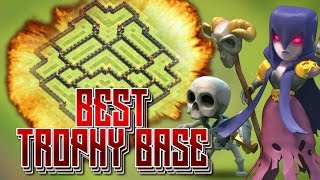 getlinkyoutube.com-Clash of Clans - BEST TH9 TROPHY/DEFENSE BASE [2016] BEST TH9 BASE June 2016
