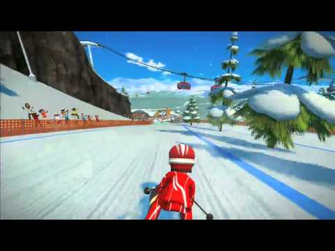 Kinect Sports Season Two - Skiing Gameplay Trailer - TGS 2011 (Xbox 360)