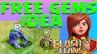 getlinkyoutube.com-Clash Of Clans Free GEMS Mine? Free Gems Pump? NEW Update Idea! Farming Gameplay  No Hack or Cheat