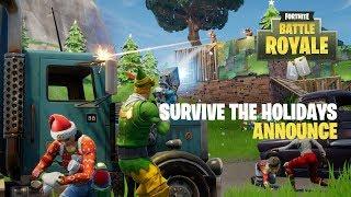 Fortnite - Survive the Holidays (Battle Royale) Announce Trailer