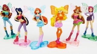 getlinkyoutube.com-8 Zabawek Winx Club z Jajko Niespodzianka Kinder Surprise Toys Winx Club 2015 - Surprise Eggs SHOW