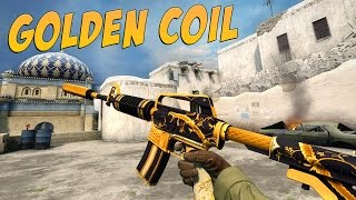getlinkyoutube.com-CS:GO - M4A1-S | Golden Coil Gameplay